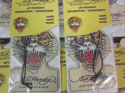 ~ 100 ~ ED HARDY ~ VANILLA SCENT ~ HANGING CAR TRUCK SUV HOME AUTO AIR FRESHENER