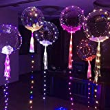 Pawaca LED Light Up Balloons,Premium Blinky Party Lights, Ideal for Christmas, Parties, Birthdays and Wedding Decorations, Lasts 8-24 Hours, Fillable with Helium