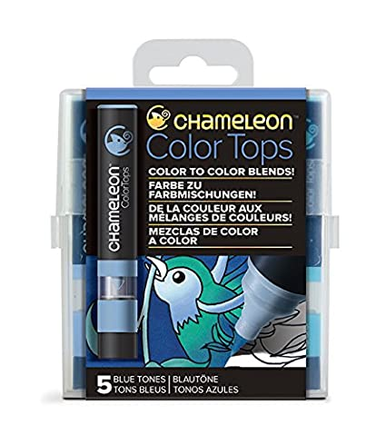 Quick and Easy Blending Chameleon Art Products Earth Tones Set of 5 Color Tops