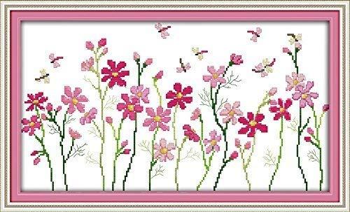 "Good Value Stamped Cross Stitch Kits Beginners Kids Advanced - The Little Flowers Painting 11 CT 22""X 14"", DIY Handmade Needlework Set Cross-Stitching Pre-print Patterns Home Decoration Frameless"