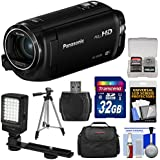 Panasonic HC-W580 Twin Wi-Fi HD Video Camera Camcorder with 32GB Card + Case + Tripod + LED Light + Reader + Kit