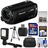 : Panasonic HC-W580 Twin Wi-Fi HD Video Camera Camcorder with 32GB Card + Case + Tripod + LED Light + Reader + Kit