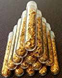 9 Large 3ml Vials. Filled Full of Gold Leaf Flakes Lowest price online !!