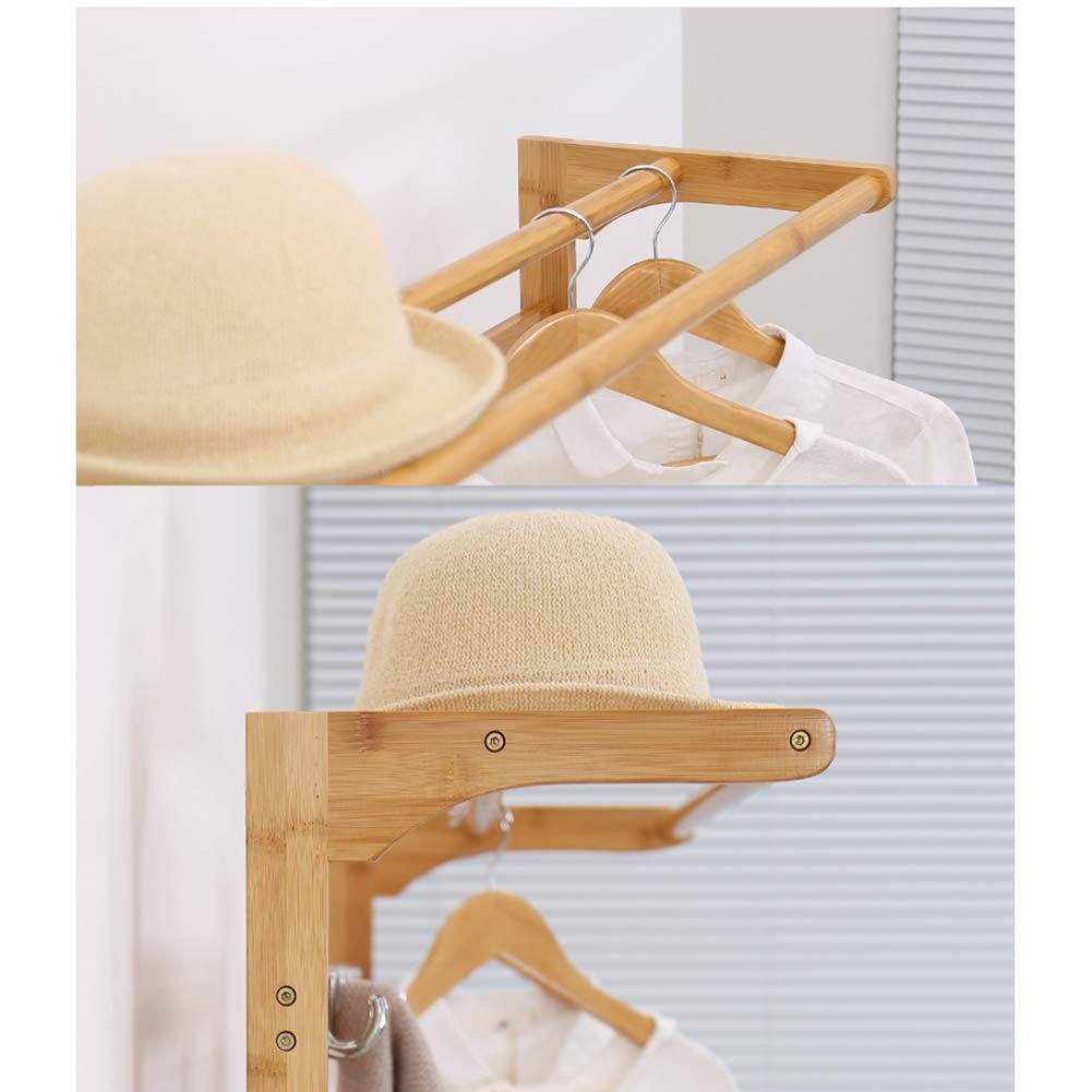 Hangers Floor stand Shoe rack Bench 2 in 1 MULTIPURPOSE Wooden Non-toxic Stability Modern-A 50x31x170cm 20x12x67inch MLXG Concise Entryway Hall Coat rack