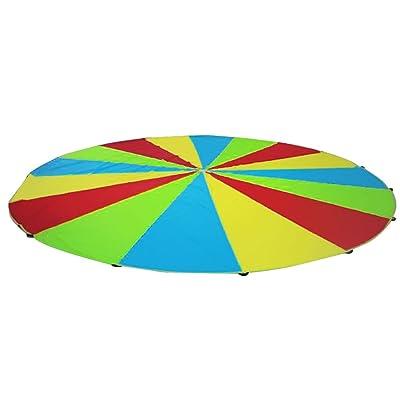 Juego Juguete Ejercicio Al Aire Libre Juegan Paracaídas Arco Iris Deporte Niños - 2m, multi color: Juguetes y juegos