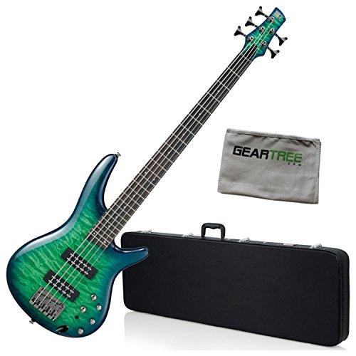 - Ibanez SR405EQMSLG SR Standard 5-String Bass Green Burst Gloss w/Hard Case and