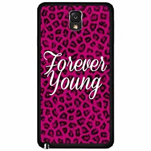 Forever Young On Pink Leopard - TPU Rubber Silicone Phone Case Back Cover Samsung Galaxy Note III 3 N9002