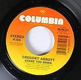 GREGORY ABBOTT 45 RPM Shake You Down / Wait Until Tomorrow