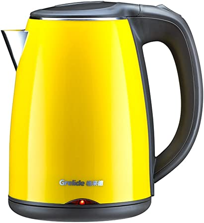 CAICOLORFUL Yellow Electric Kettle 304 Food Grade Stainless Steel Home Automatic Power Off Kettle 1.2L 1500W Electric Kettles