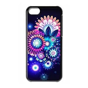 Shiny Flower theme for iPhone 5C hard back case