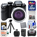 KODAK PIXPRO AZ421 Astro Zoom Digital Camera with 32GB Card + Case + Battery/Charger + Flex Tripod + Kit
