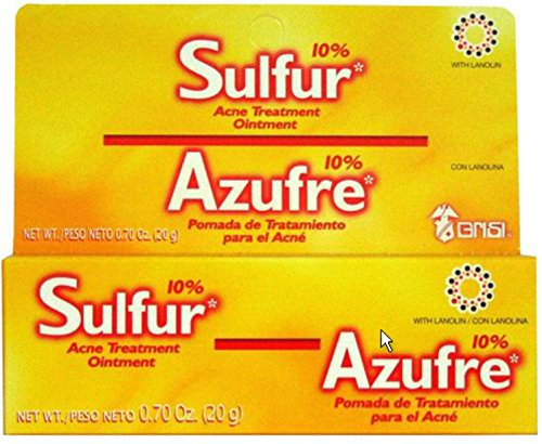 20 G GRISI SULFUR OINTMENT SULPHUR CREAM ACNE BLACKHEAD SPOT CYST ECZEMA TREATMENT