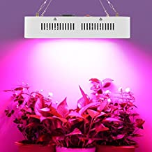 Morsen 600w Double Chips LED Grow Light Full Specturm for Greenhouse and Indoor Plant Flowering Growing (10w Leds)