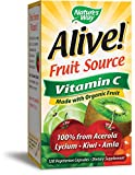 Nature's Way Alive!® Vitamin C Supplement, Made with Organic Fruit, 120 Vegetarian Capsules Review