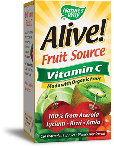 Nature's Way Alive!® Vitamin C Supplement, Made with Organic Fruit, 120 Vegetarian Capsules (Fruit Natures Way)