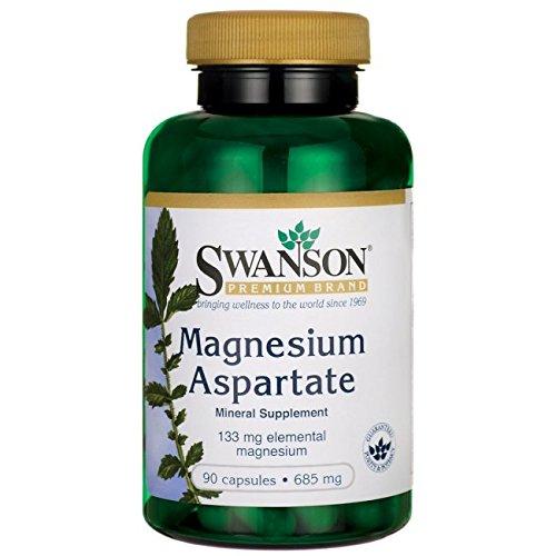 Swanson Magnesium Aspartate 685 mg (133 mg elemental) 90 Caps (Magnesium Aspartate)