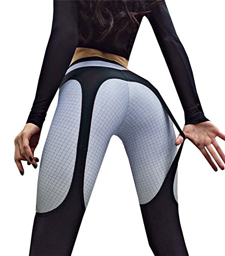 Tutorutor Womens Garter Leggings Yoga Dance Push Up High Waisted Workout Sports Pants