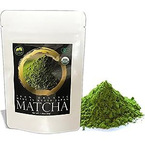 Zen no Ocha Matcha Green Tea Powder MATSU 100% Organic Made in Kyoto Japan (1.06oz(30g))