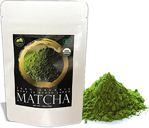 Zen no Ocha Matcha Green Tea Powder MATSU 100% Organic Made in Kyoto Japan (1.06oz(30g)) Japan Sugar Bowl