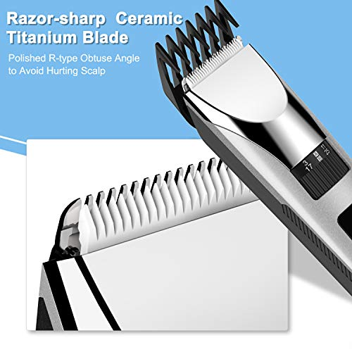 Paubea Electric Cordless Hair Clippers - All-in-One Adjustable Guide Combs at Home Haircut Machine Hair Cutting Tools Hair Trimmer Grooming Kit for Men