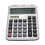 Electronic Desktop Calculator with 12 Digit Large Display, Solar Battery LCD Display Office Calculator (silvery)