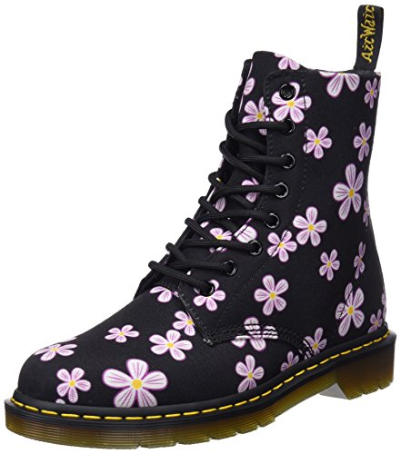Dr. Martens Page Meadow, Stivaletti Donna Multicolore (Black Meadow 001)