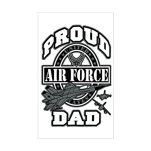 Sticker (Rectangle) Proud Air Force Dad -