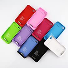 External Backup Battery Charger Case Cover Power Bank 1900mAh For Apple iPhone 4 4G 4S with Retail Box --- Color:Red