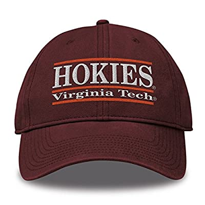 The Game NCAA Virginia Tech Hokies Bar Design Classic Relaxed Twil Hat, Maroon, Adjustable by MV CORP. INC
