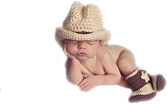 DELEY Del Bebé Sombrero de Vaquero Botas Trajes de Disfraces Infantil de Apoyo de la Fotografía: Amazon.es: Ropa y accesorios