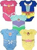 Disney Princess Baby Girls' 5 Pack Bodysuits Belle