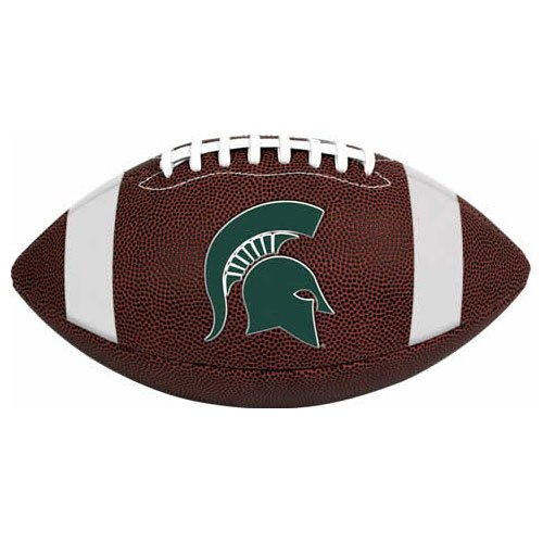 NCAA Game Time Full Size Football , Michigan State Spartans, Brown, Full Size ()