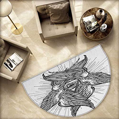 Eye - Cojín semicircular, composición Abstracta con Parasol ...