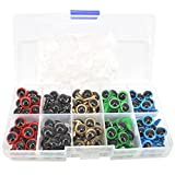 Bestartstore 1box(100pcs) 10MM 5color Plastic Safety Eyes for Teddy Bear Doll Animal Puppet Crafts