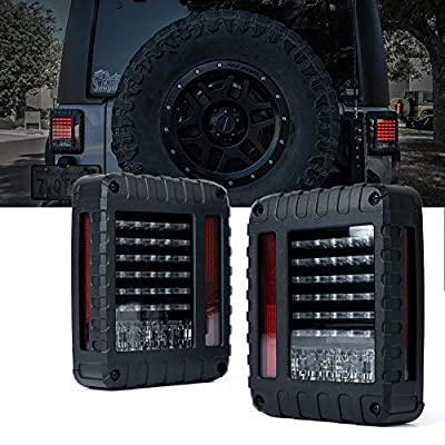Xprite Clear Lens Taillights Assembly Tail Lights withTurn Signal & Back Up Rear TailLights for 2007-2020 Jeep Wrangler JK JKU: Automotive