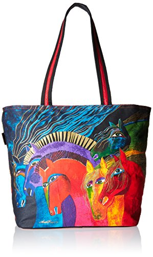 - Laurel Burch LB4840 Shoulder Tote Zipper Top, 19-Inch by 7-Inch by 15-Inch, Wild Horses of Fire