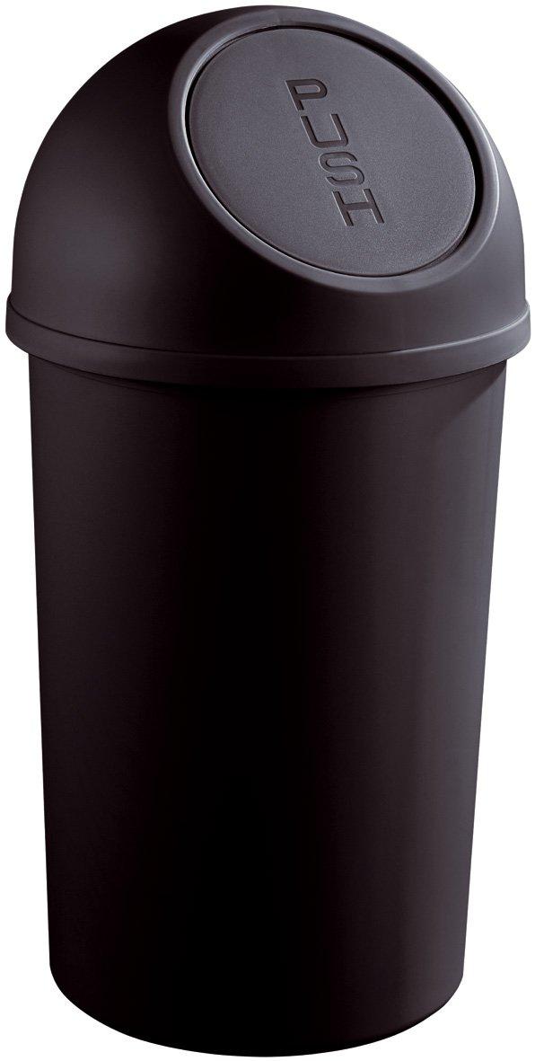 Helit H2401295 - Papelera (tapa basculante, 25 L, plástico), plástico), plástico), color negro c9adc1