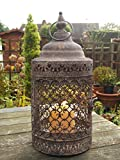 Antique Vintage Style Moroccan Large Garden Lantern Candle Holder Indoor Outdoor