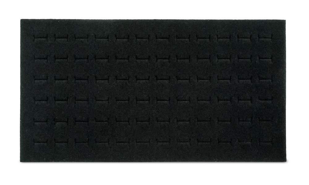 NEW Black 72 Slot Ring Foam Pad Tray Jewelry Display !!