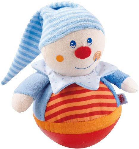 - HABA Kasper Roly Poly Clown Wobbling & Chiming Toy