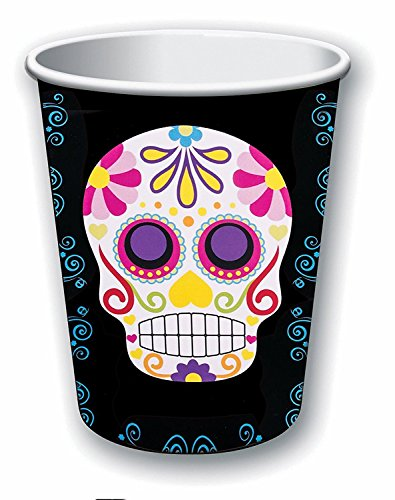 Day Of The Dead Cups 9 Oz Pack of 8