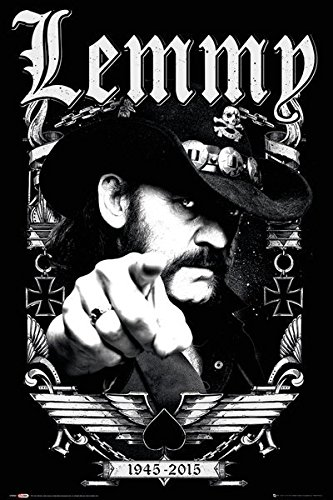 Lemmy Kilmister - Personality/Music Poster (Finger - 1945-2015) (Size: 24 inches x 36 inches)