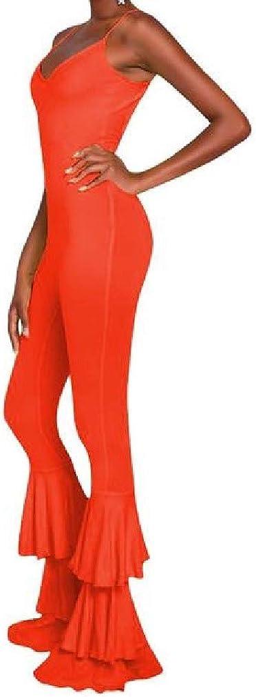 VITryst-Women Flare Sling Nightclub Cami Backless Romper Jumpsuit Pants