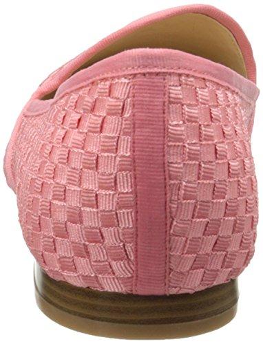 Nine West Womens Lobster Fabric Ballet Flat Pink Orange/Pink Orange dnvGxo