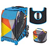 Zuca Sport Bag - Colorblock Party with Gift Lunchbox and Seat Cover (Blue Frame)