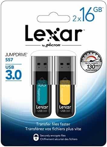 Lexar JumpDrive S57 16GB USB 3.0 Flash Drive LJDS57-16GABNL2 - 2 Pack