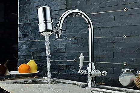 ZSWZL Rotación de 360 grados del purificador de agua doméstico y cocina direct beber el agua del grifo filtro purificador de agua,Grifos de lavabo, grifos de cocina ...
