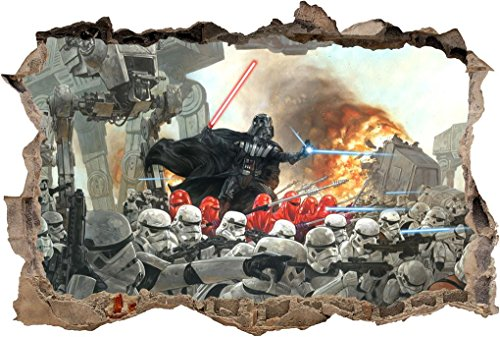 STAR WARS Darth Vader Smashed Wall Decal Removable Wall S...