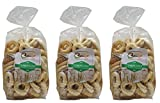 Certossa: ''Tarallini'' Italian Taralli, with Olive Oil * 17.6 Ounce (500g) Packages (Pack of 3) * [ Italian Import ]