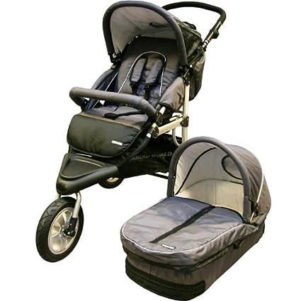 Carrito 3 ruedas jogger + capazo gris: Amazon.es: Bebé